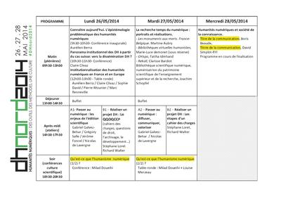 DHnord2014 - Programme