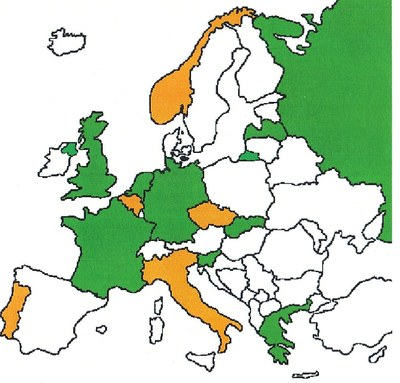 Map of consortium member countries