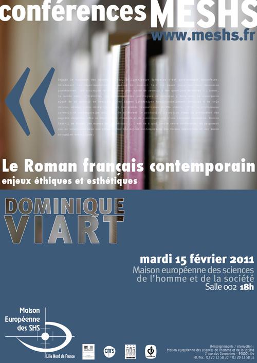 Affiche de la conférence de Dominique Viart