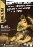 Affiche de la Conférence d'Anne Tursz