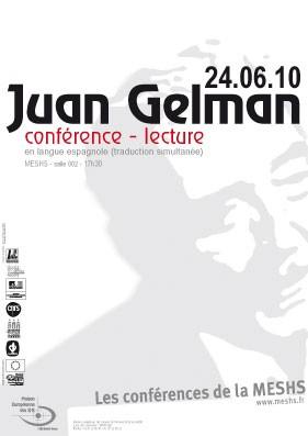 Affiche de la conférence-lecture de Juan Gelman