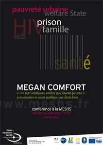Affiche de la conférence de Megan Comfort