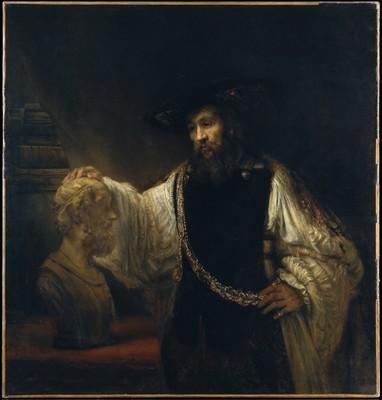 Rembrandt, Aristote contemplant le buste d'Homère